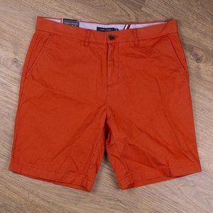 Tommy Hilfiger Mens Cotton Orange Shorts Size 34